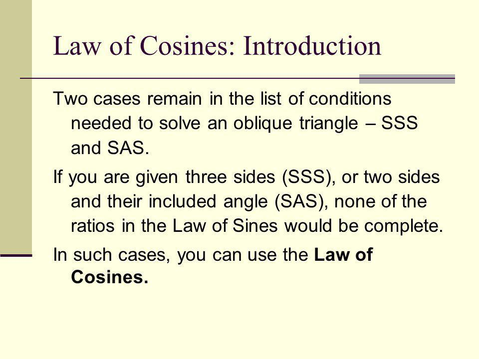 Law of Cosines: Introduction