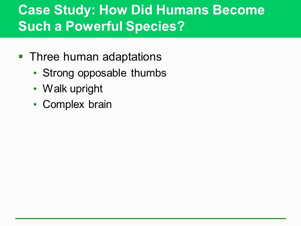 Case Study: How Did Humans Become Such a Powerful Species