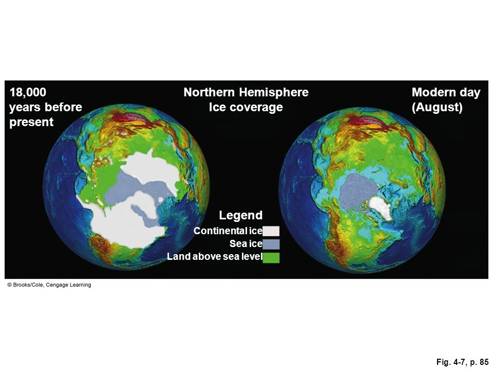 Northern Hemisphere Ice coverage