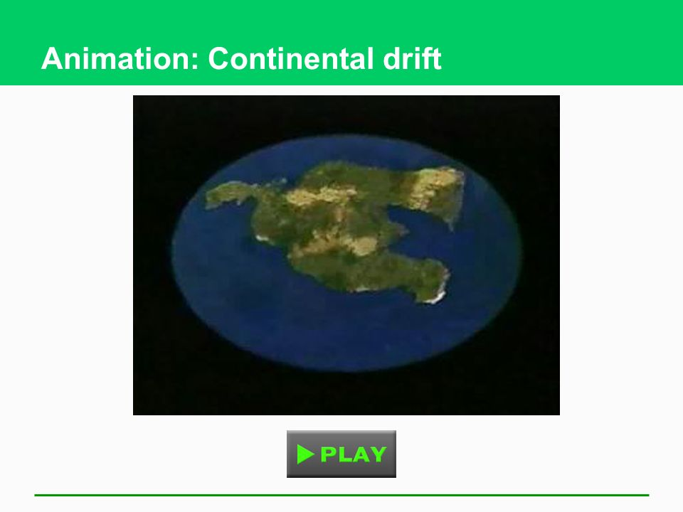 Animation: Continental drift