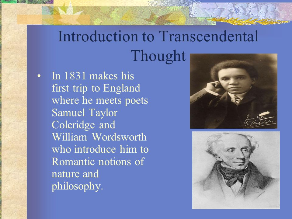Introduction to Transcendental Thought