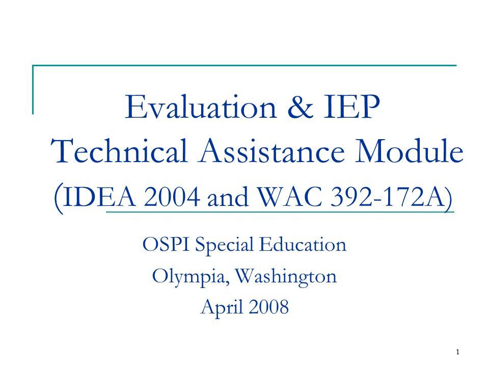 OSPI Special Education Olympia, Washington April 2008