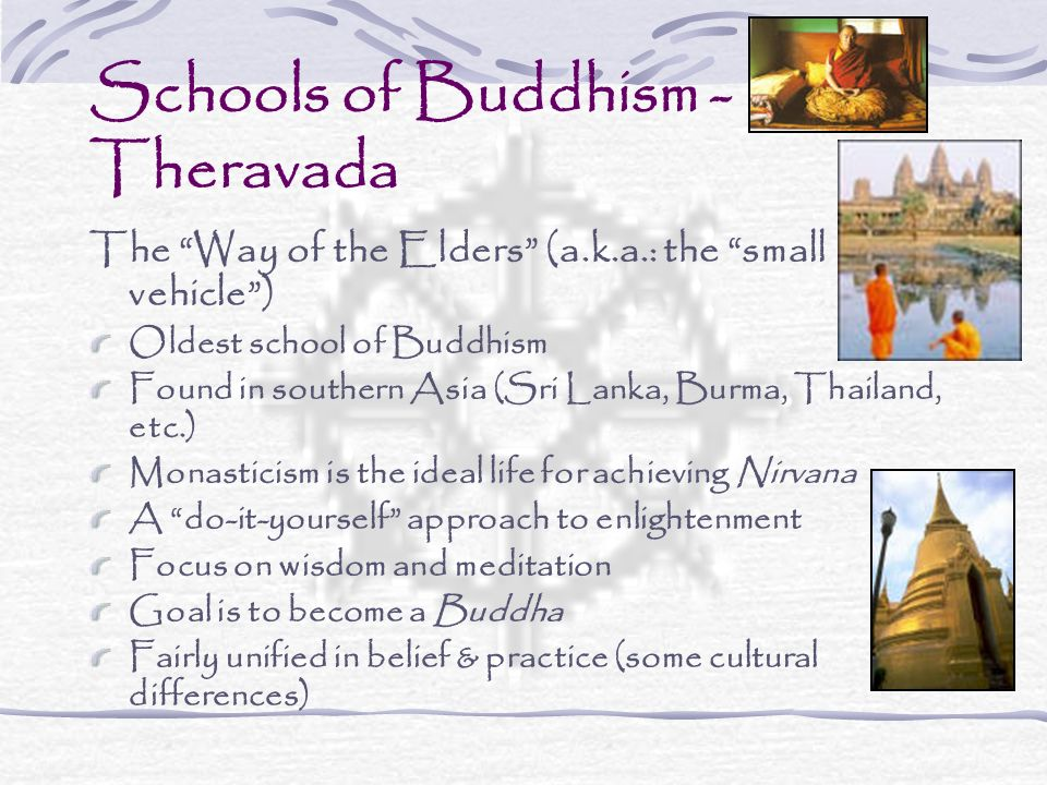 Schools of Buddhism - Theravada