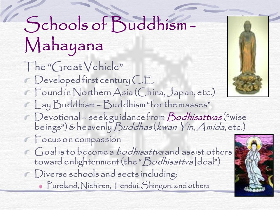 Schools of Buddhism - Mahayana