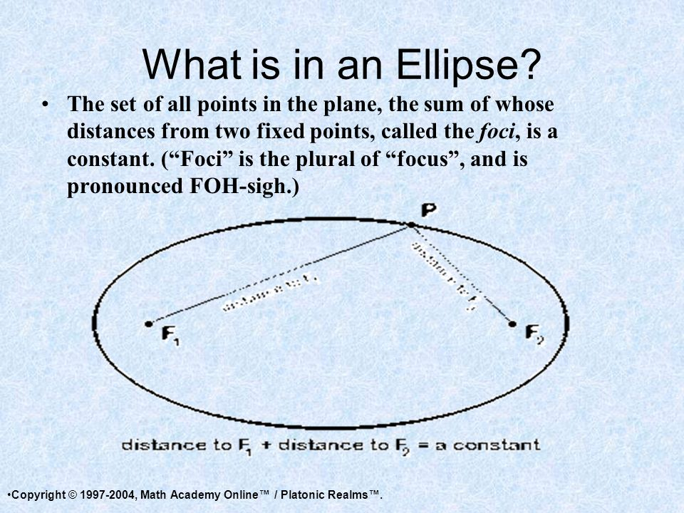 What is in an Ellipse