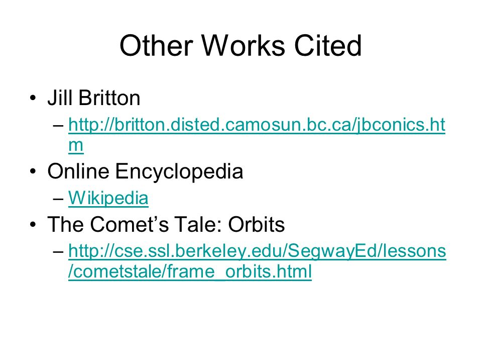 Other Works Cited Jill Britton Online Encyclopedia