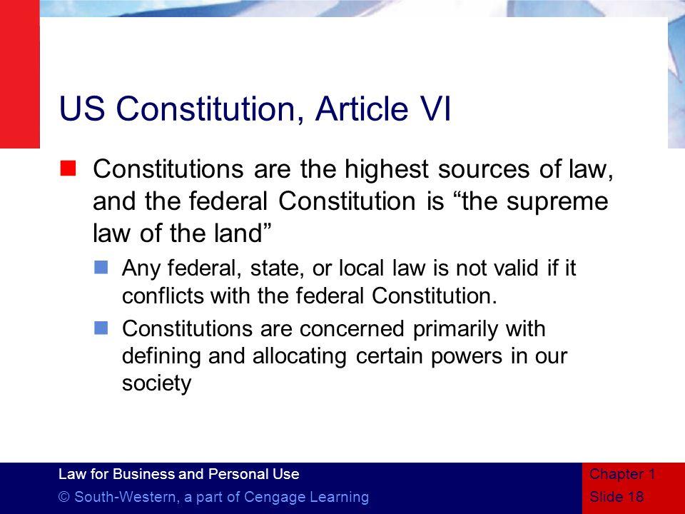 US Constitution, Article VI