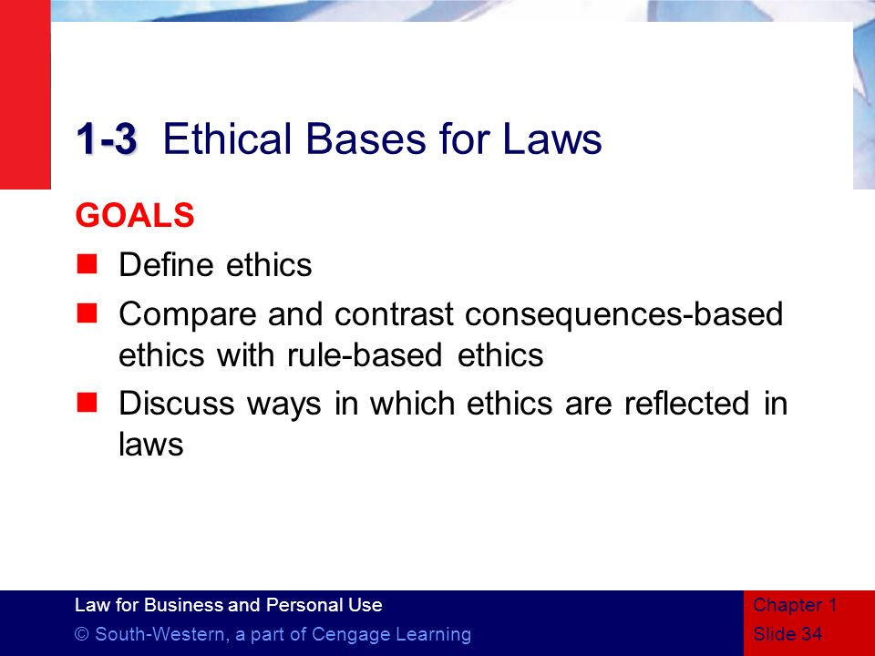 1-3 Ethical Bases for Laws