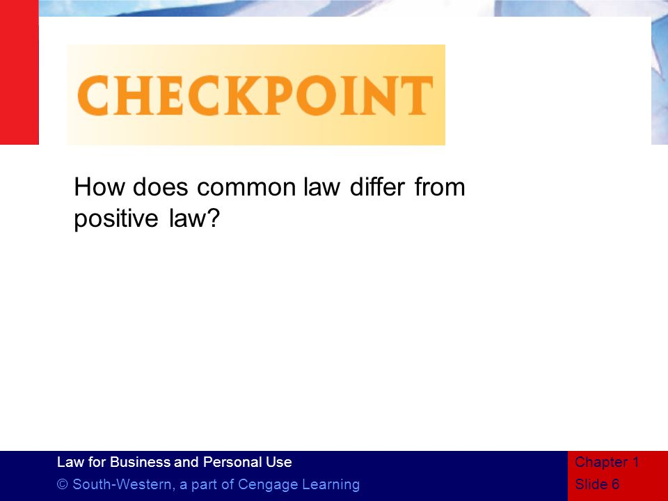 How does common law differ from positive law