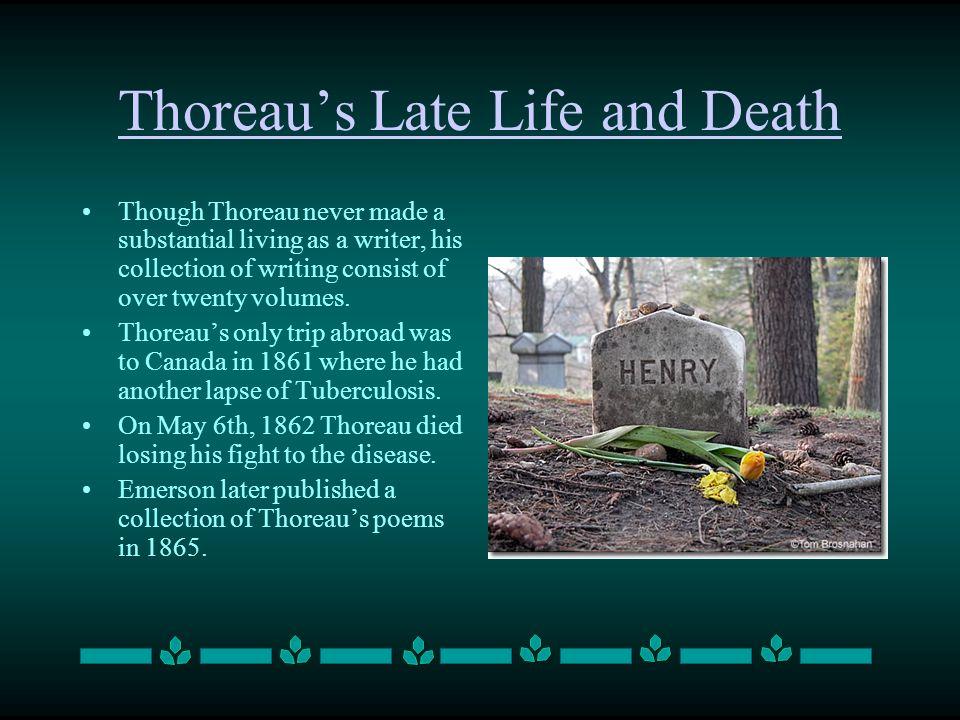 Thoreau's Late Life and Death