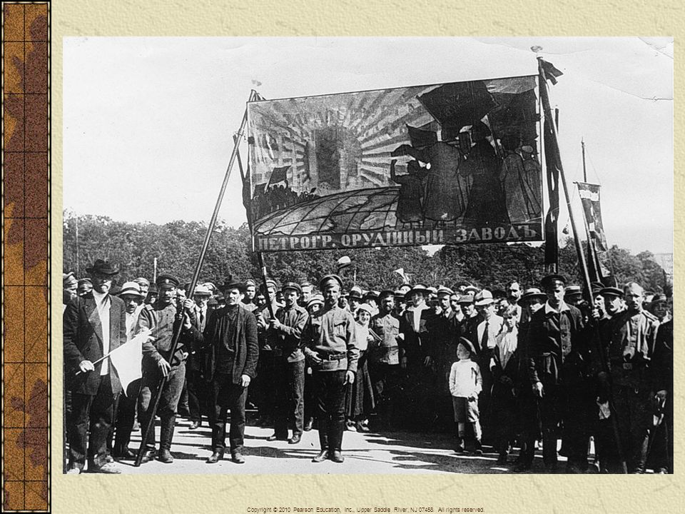 Petrograd munitions workers demonstrating in 1917.