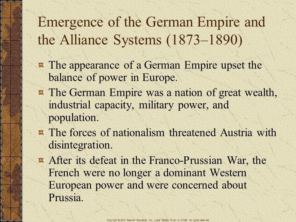 Emergence of the German Empire and the Alliance Systems (1873–1890)