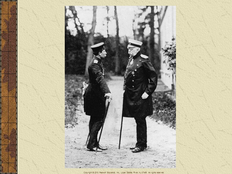 Bismarck and the young Kaiser William II meet in 1888