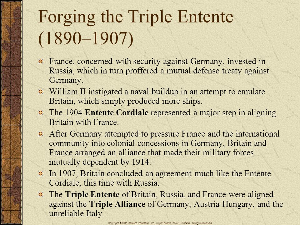 Forging the Triple Entente (1890–1907)