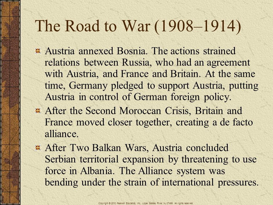 The Road to War (1908–1914)