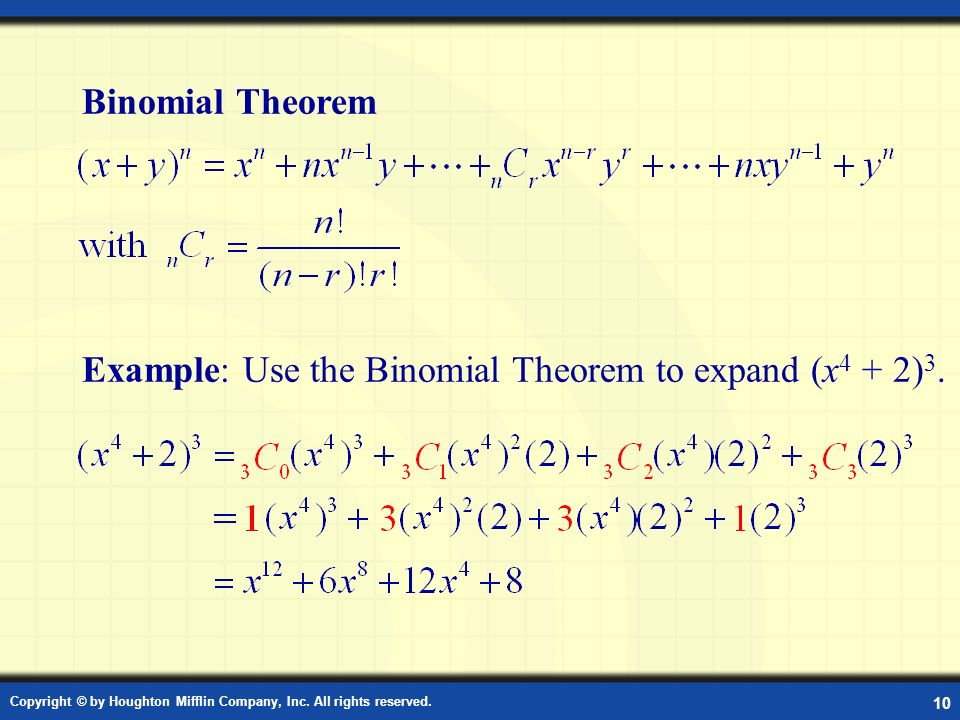 Definition: Binomial Theorem