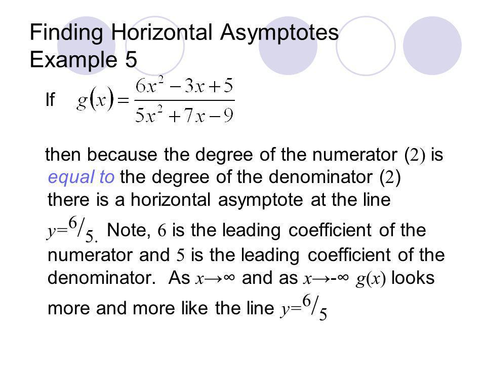 Finding Horizontal Asymptotes Example 5