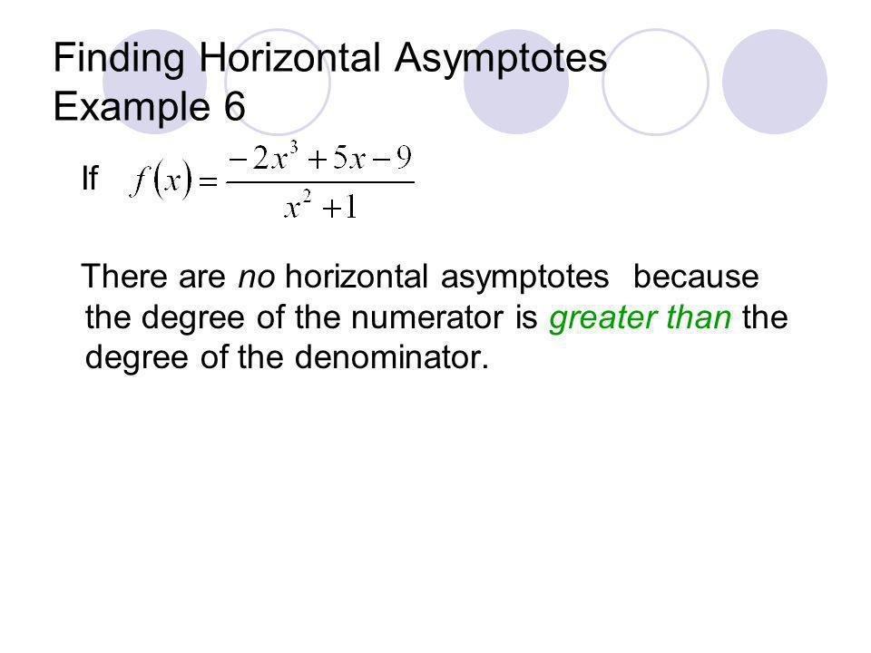 Finding Horizontal Asymptotes Example 6
