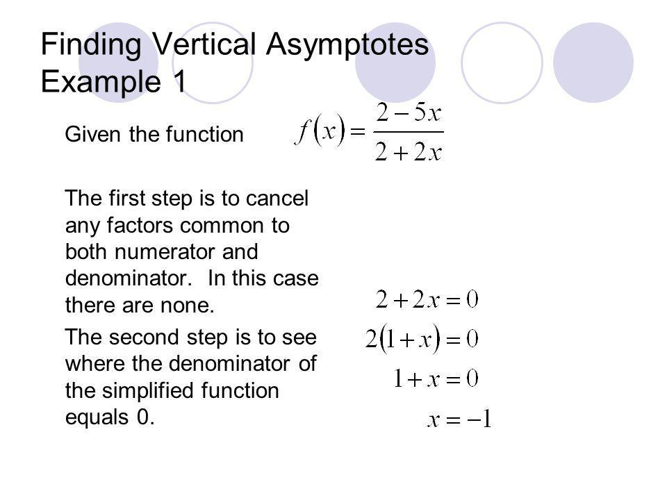 Finding Vertical Asymptotes Example 1