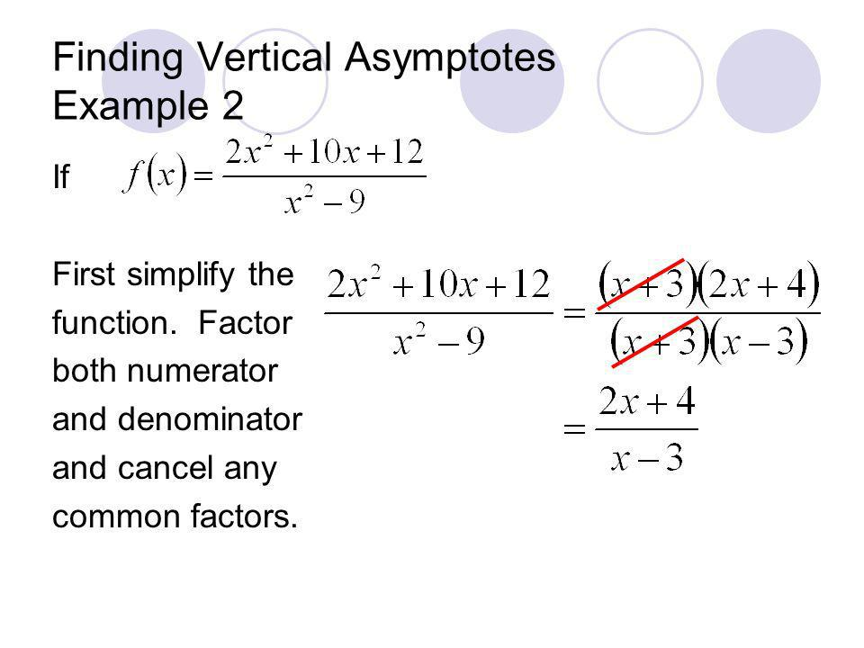 Finding Vertical Asymptotes Example 2