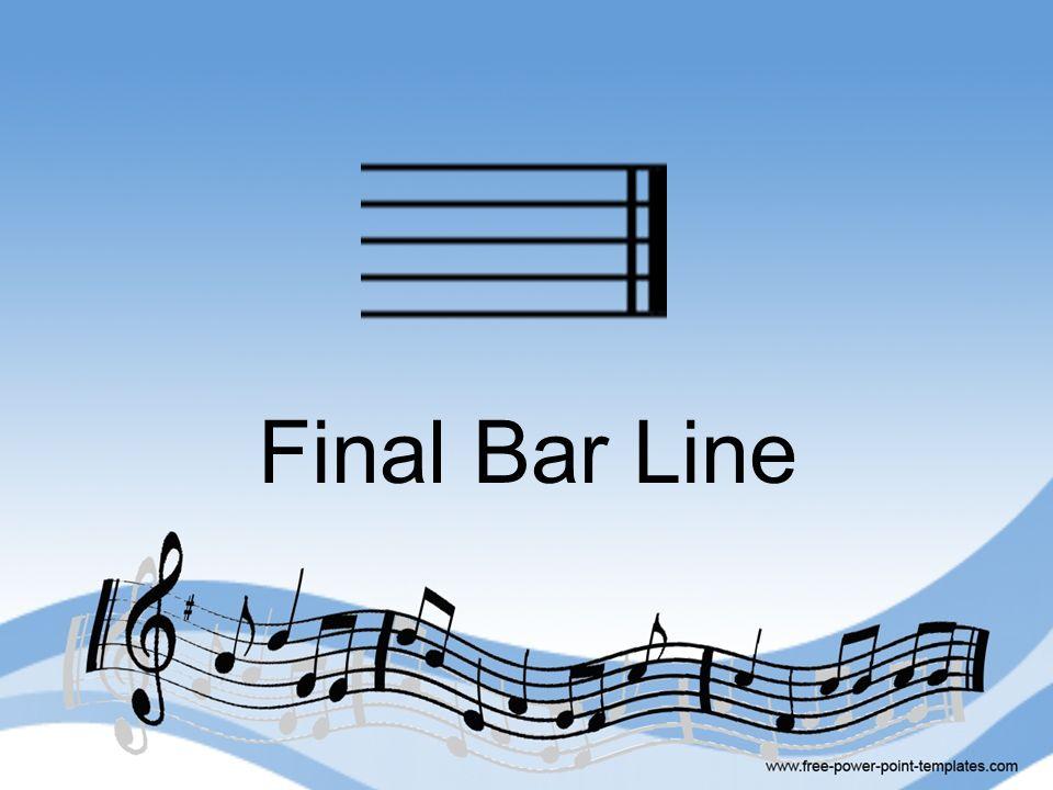 Final Bar Line