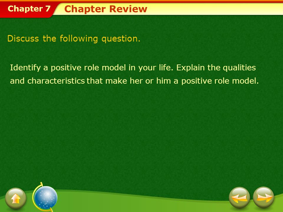 Chapter Review Discuss the following question.