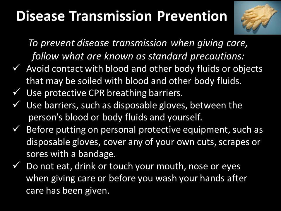 Disease Transmission Prevention