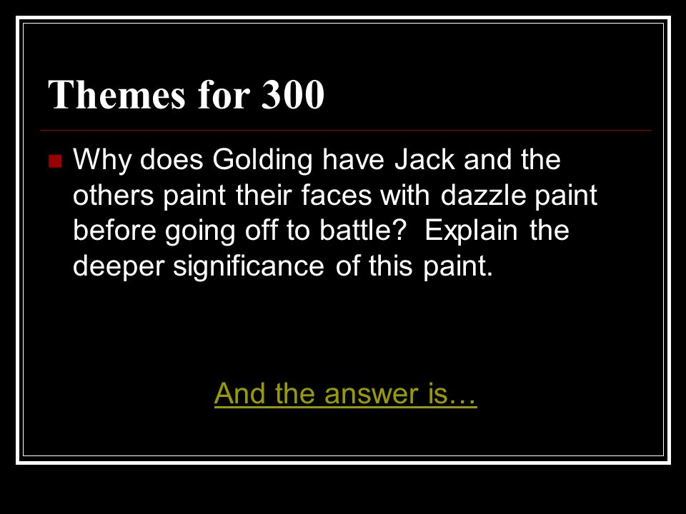 Themes for 300