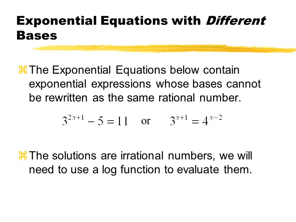 Exponential equation