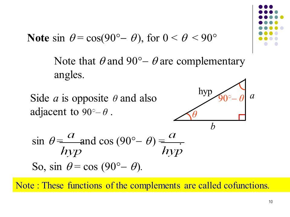 Example: Using Trigonometric Identities