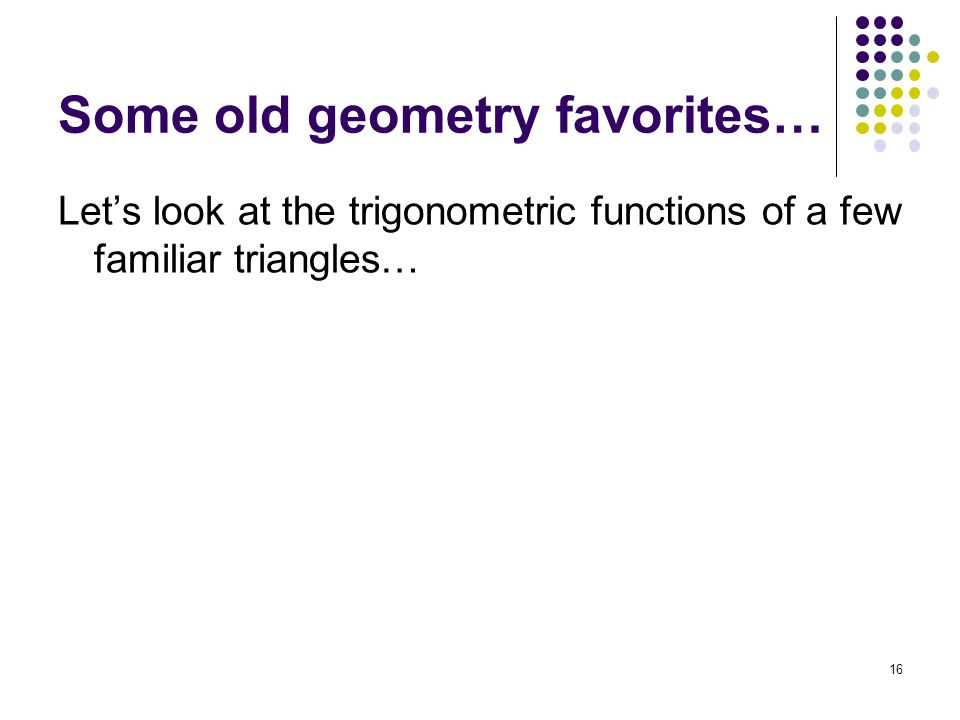 Some old geometry favorites…