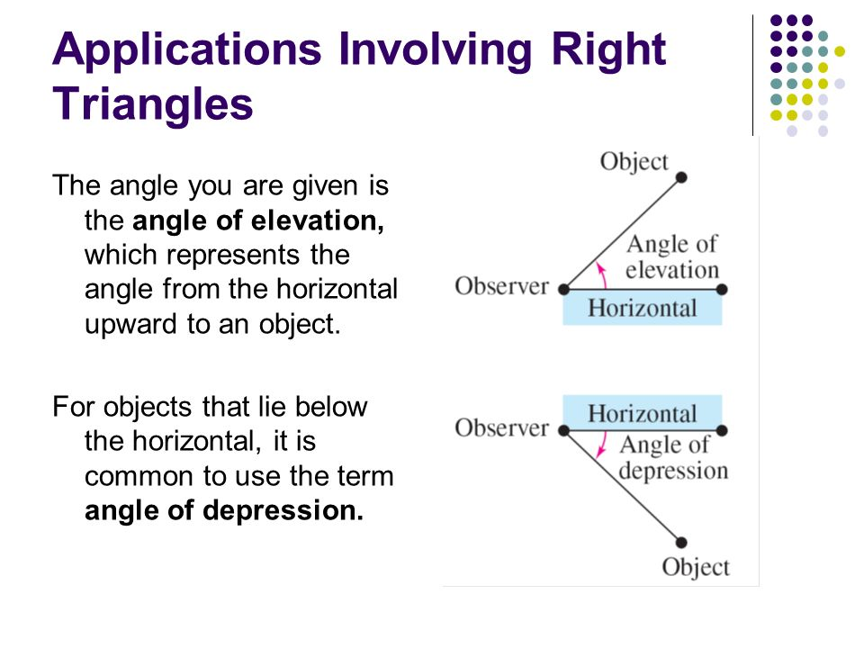 Applications Involving Right Triangles