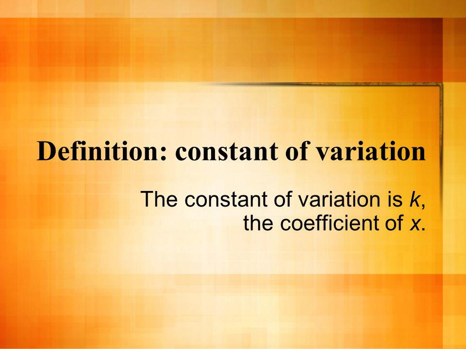 Definition: constant of variation