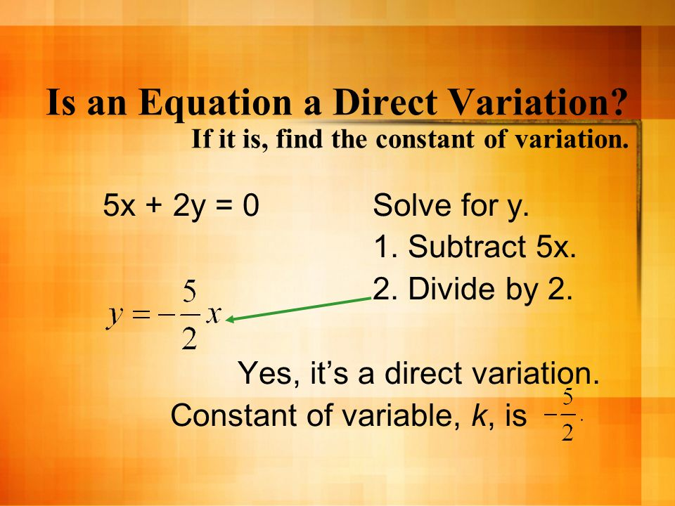 Direct, Inverse, Joint and Combined Variation