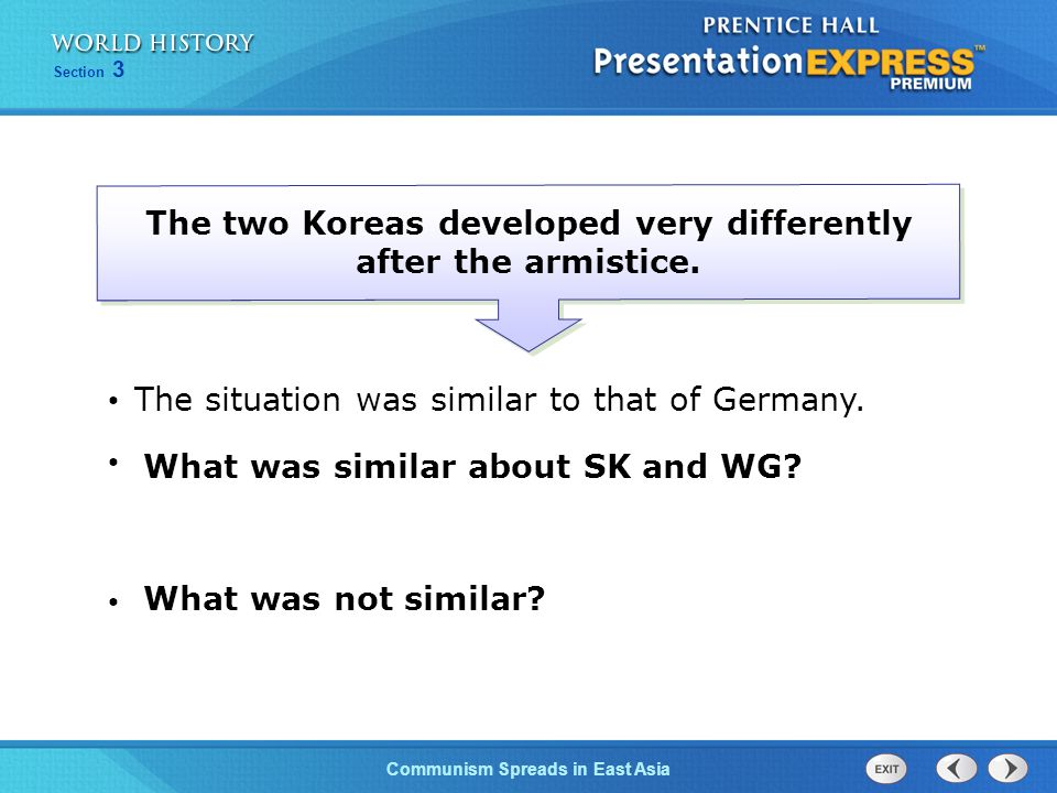 The two Koreas developed very differently after the armistice.