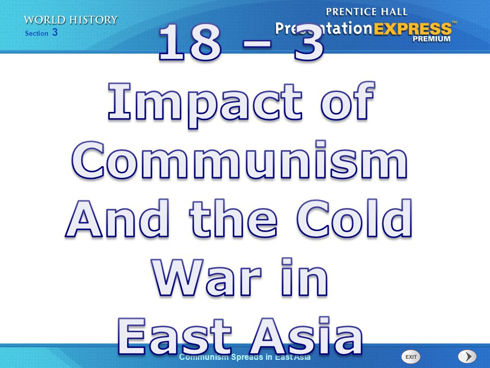 18 – 3 Impact of Communism And the Cold War in East Asia