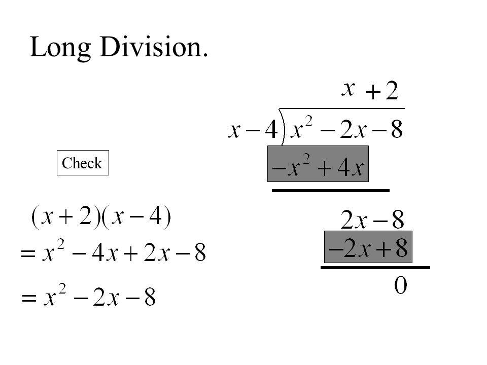 Long Division. Check