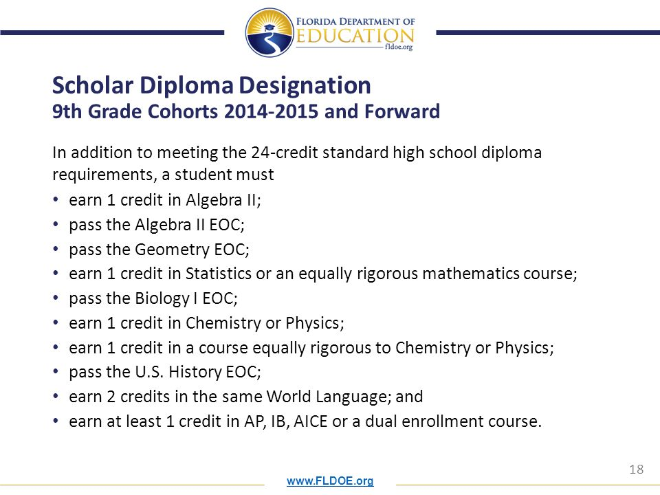 state university system directors of admission ppt  scholar diploma designation 9th grade cohorts 2014 2015 and forward