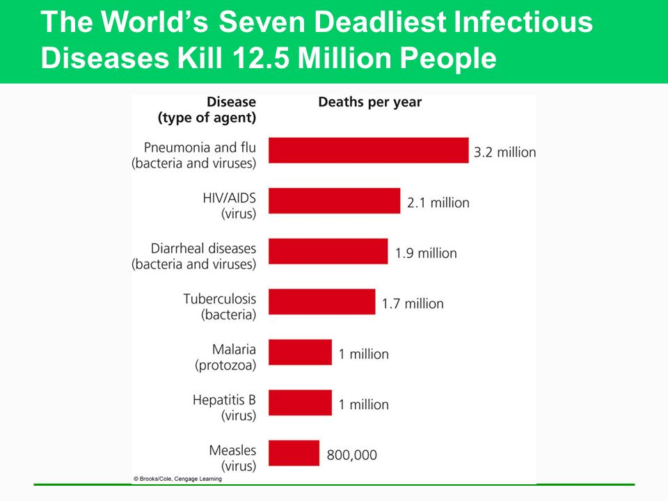 The World's Seven Deadliest Infectious Diseases Kill 12