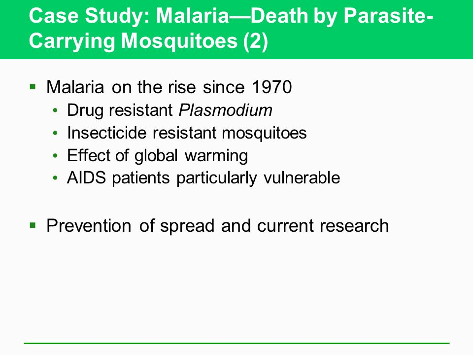 Case Study: Malaria—Death by Parasite-Carrying Mosquitoes (2)