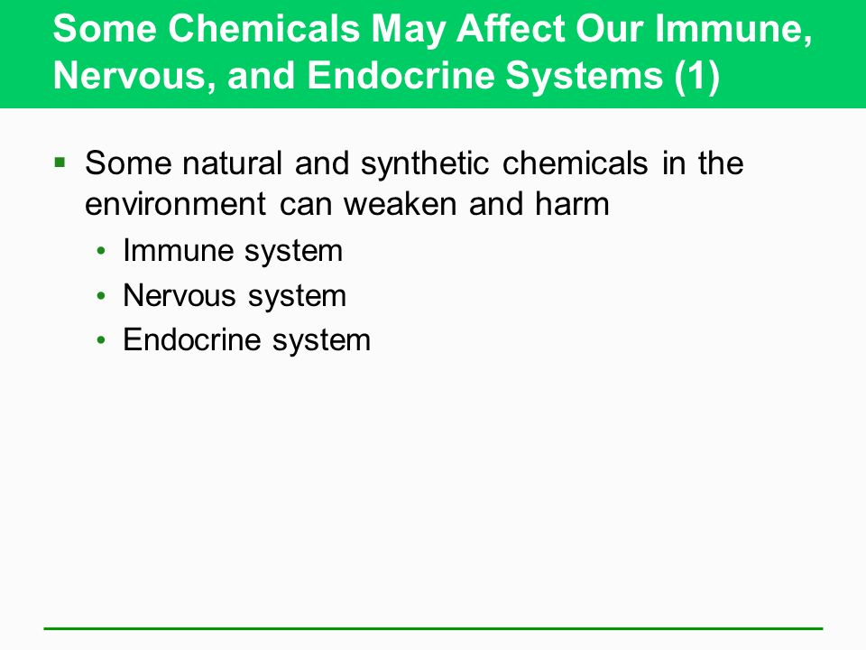 Some Chemicals May Affect Our Immune, Nervous, and Endocrine Systems (1)