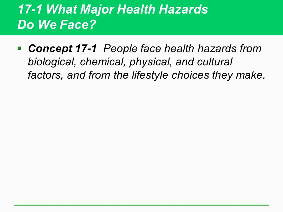 17-1 What Major Health Hazards Do We Face