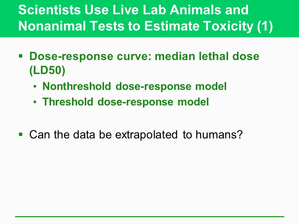 Scientists Use Live Lab Animals and Nonanimal Tests to Estimate Toxicity (1)