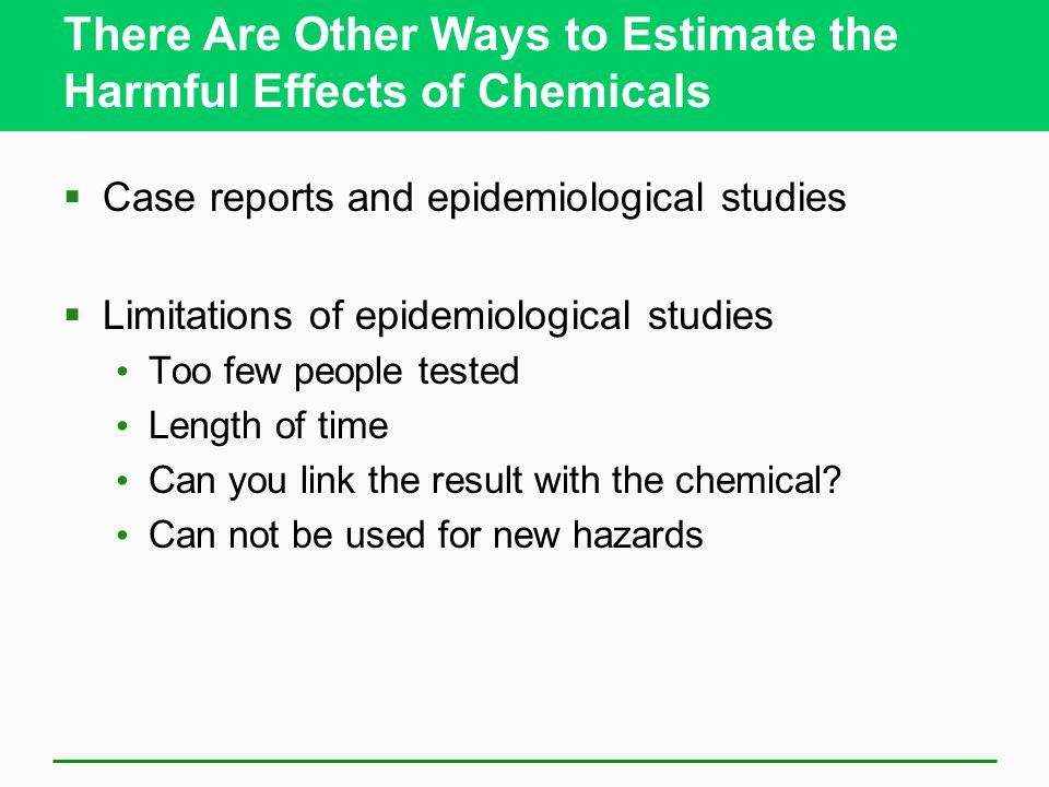 There Are Other Ways to Estimate the Harmful Effects of Chemicals