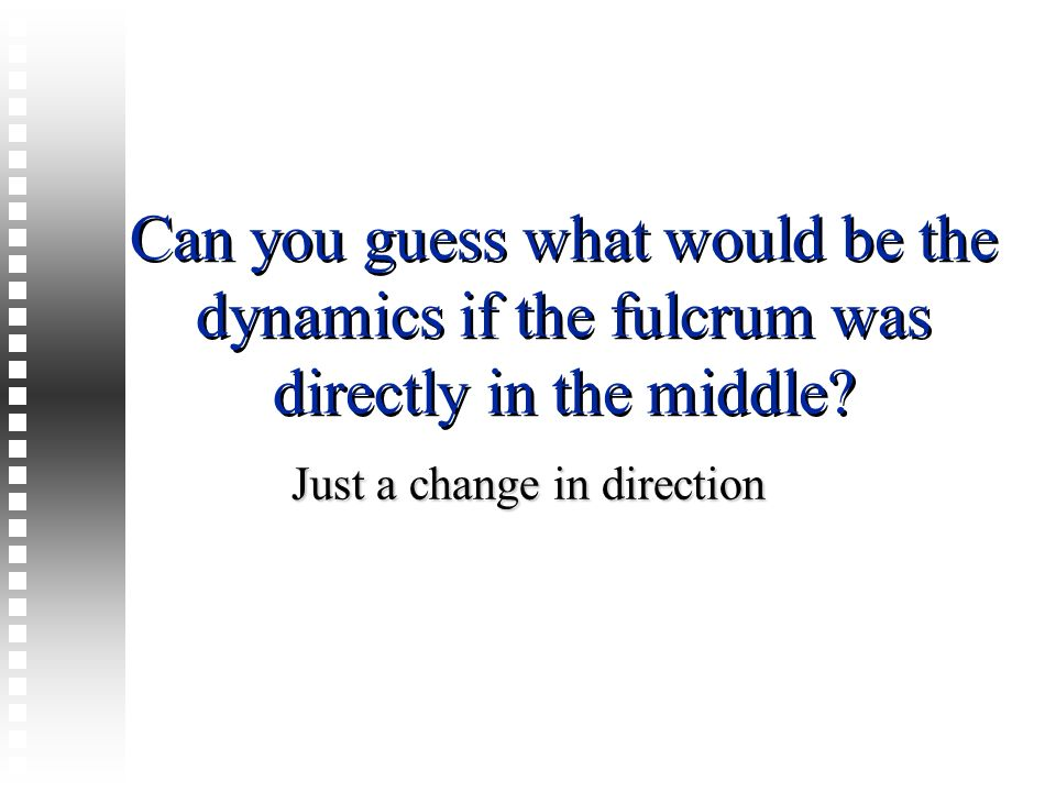 Just a change in direction
