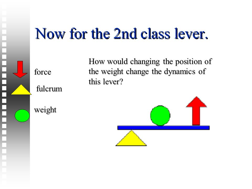 Now for the 2nd class lever.