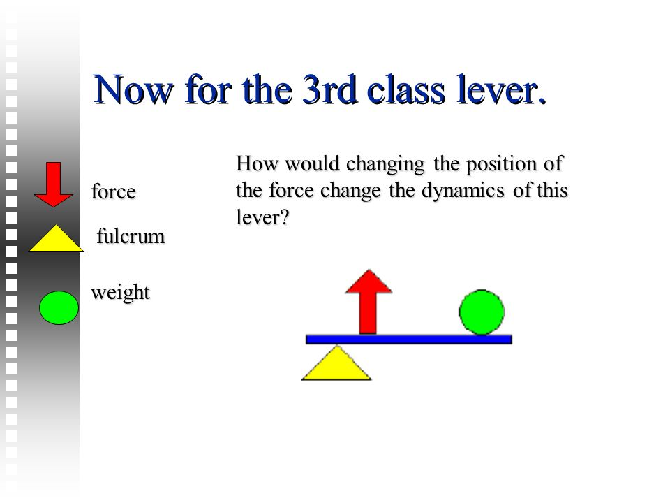 Now for the 3rd class lever.