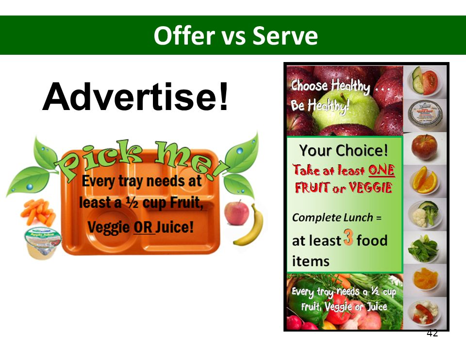 Advertise! Offer vs Serve