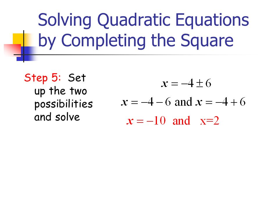 how to solve square equations