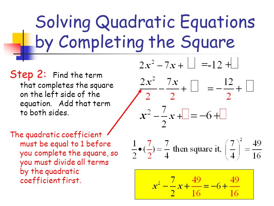 solving quadratic equations by completing the square ppt video online download. Black Bedroom Furniture Sets. Home Design Ideas